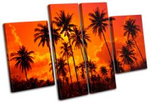 Palm Trees Sunset Seascape - 13-1829(00B)-MP17-LO